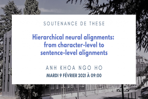 Hierarchical neural alignments: from character-level to sentence-level alignments